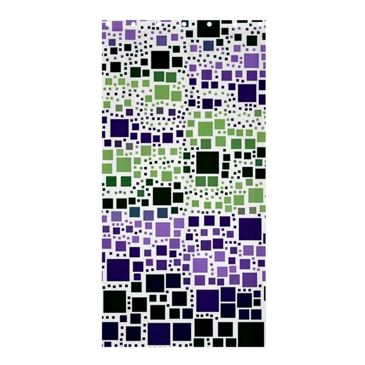 Block On Block, Purple Shower Curtain 36  x 72  (Stall)