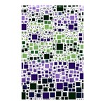Block On Block, Purple Shower Curtain 48  x 72  (Small)  42.18 x64.8 Curtain