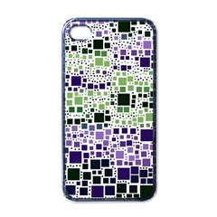 Block On Block, Purple Apple iPhone 4 Case (Black)