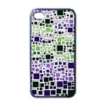 Block On Block, Purple Apple iPhone 4 Case (Black) Front