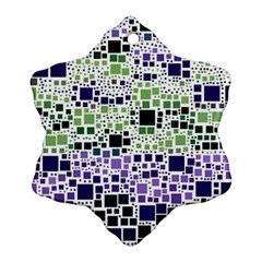 Block On Block, Purple Ornament (Snowflake)
