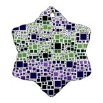 Block On Block, Purple Snowflake Ornament (2-Side) Front