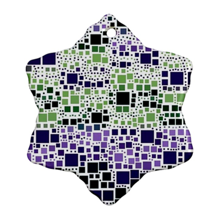 Block On Block, Purple Snowflake Ornament (2-Side)