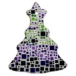 Block On Block, Purple Christmas Tree Ornament (2 Sides) Back