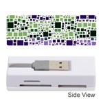 Block On Block, Purple Memory Card Reader (Stick)  Front