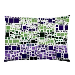 Block On Block, Purple Pillow Case (Two Sides)