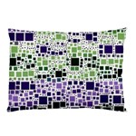 Block On Block, Purple Pillow Case (Two Sides) Back
