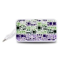 Block On Block, Purple Portable Speaker (White)