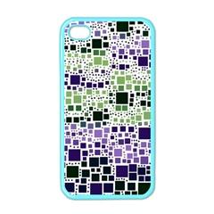 Block On Block, Purple Apple iPhone 4 Case (Color)