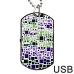 Block On Block, Purple Dog Tag USB Flash (Two Sides)  Front