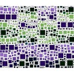 Block On Block, Purple Deluxe Canvas 14  x 11  14  x 11  x 1.5  Stretched Canvas