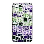 Block On Block, Purple Apple iPhone 4/4s Seamless Case (Black) Front