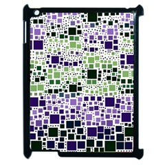 Block On Block, Purple Apple iPad 2 Case (Black)