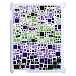 Block On Block, Purple Apple iPad 2 Case (White) Front