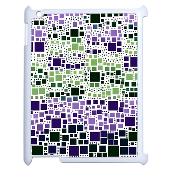 Block On Block, Purple Apple iPad 2 Case (White)