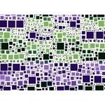 Block On Block, Purple Apple 3D Greeting Card (7x5) Back