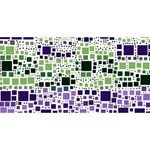 Block On Block, Purple ENGAGED 3D Greeting Card (8x4) Back