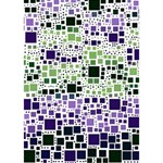 Block On Block, Purple THANK YOU 3D Greeting Card (7x5) Inside