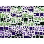 Block On Block, Purple Get Well 3D Greeting Card (7x5) Back