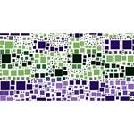 Block On Block, Purple Congrats Graduate 3D Greeting Card (8x4) Front