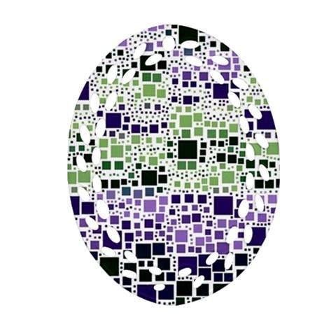 Block On Block, Purple Ornament (Oval Filigree)