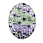 Block On Block, Purple Oval Filigree Ornament (2-Side)  Front