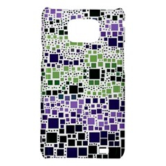 Block On Block, Purple Samsung Galaxy S2 i9100 Hardshell Case