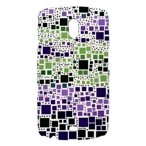 Block On Block, Purple Samsung Galaxy Nexus i9250 Hardshell Case