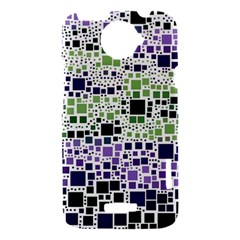 Block On Block, Purple HTC One X Hardshell Case