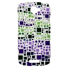 Block On Block, Purple HTC One S Hardshell Case