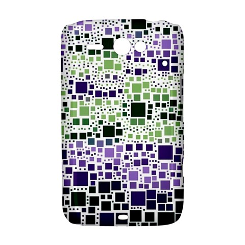 Block On Block, Purple HTC ChaCha / HTC Status Hardshell Case