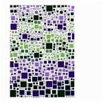 Block On Block, Purple Small Garden Flag (Two Sides) Back
