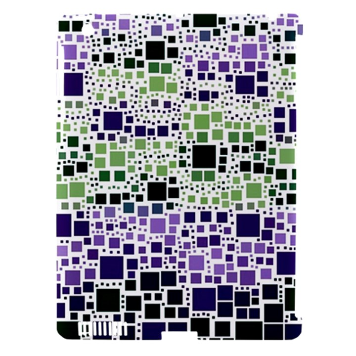 Block On Block, Purple Apple iPad 3/4 Hardshell Case (Compatible with Smart Cover)