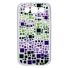 Block On Block, Purple Samsung Galaxy S III Case (White)