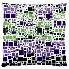 Block On Block, Purple Large Cushion Case (One Side)