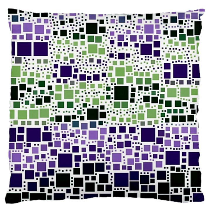 Block On Block, Purple Large Cushion Case (Two Sides)
