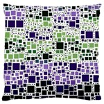 Block On Block, Purple Large Cushion Case (Two Sides) Back