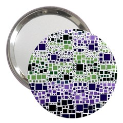 Block On Block, Purple 3  Handbag Mirrors
