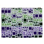 Block On Block, Purple Cosmetic Bag (XXL)  Back