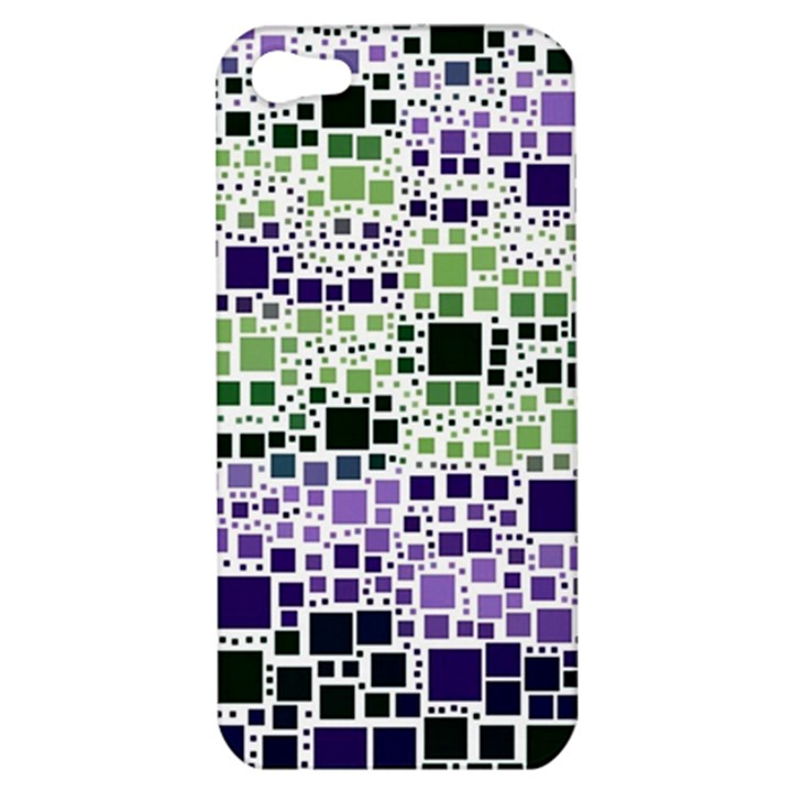 Block On Block, Purple Apple iPhone 5 Hardshell Case