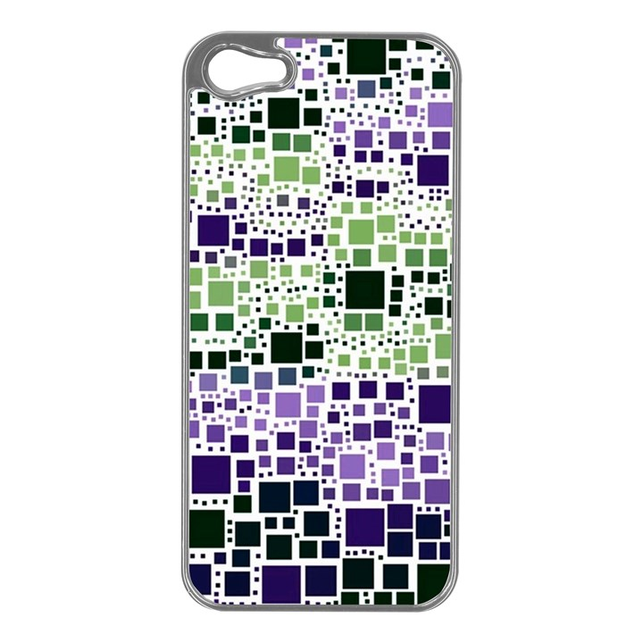Block On Block, Purple Apple iPhone 5 Case (Silver)