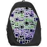 Block On Block, Purple Backpack Bag Front
