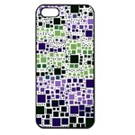 Block On Block, Purple Apple iPhone 5 Seamless Case (Black) Front