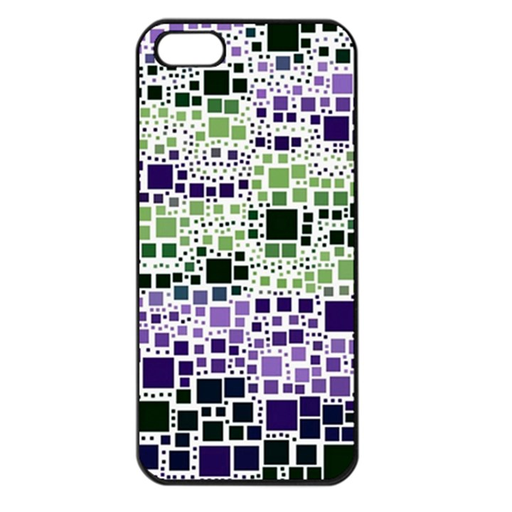 Block On Block, Purple Apple iPhone 5 Seamless Case (Black)