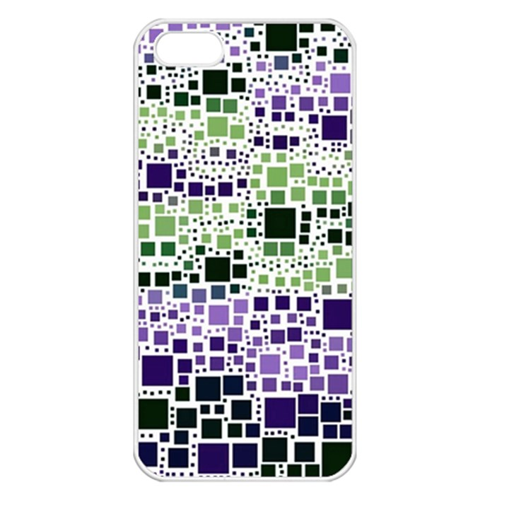 Block On Block, Purple Apple iPhone 5 Seamless Case (White)
