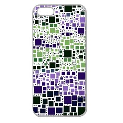 Block On Block, Purple Apple Seamless iPhone 5 Case (Clear)