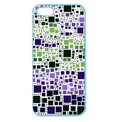 Block On Block, Purple Apple Seamless iPhone 5 Case (Color)