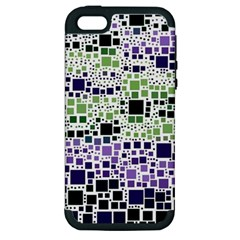Block On Block, Purple Apple iPhone 5 Hardshell Case (PC+Silicone)