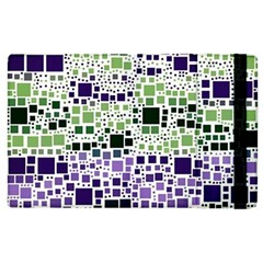 Block On Block, Purple Apple Ipad 3/4 Flip Case