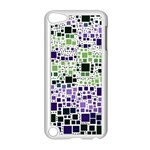 Block On Block, Purple Apple iPod Touch 5 Case (White) Front